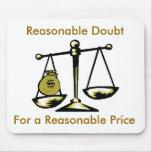 tshirtscale, duda razonable, para un razonable… alfombrilla de ratón