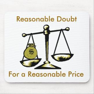 tshirtscale, Reasonable Doubt, For a Reasonable... Mouse Pad