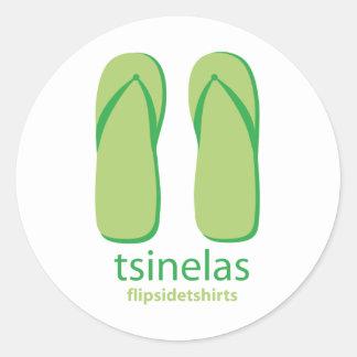 Tsinelas Classic Round Sticker