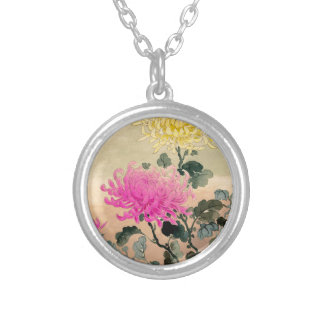 Tsuchiya Koitsu 土屋光逸 - Chrysanthemum 菊 Silver Plated Necklace