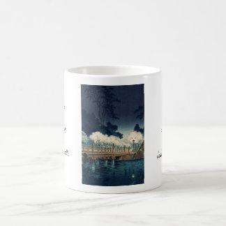 Tsuchiya Koitsu Benkei Bridge shin hanga art Classic White Coffee Mug