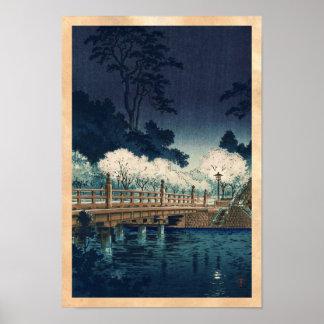 Tsuchiya Koitsu Benkei Bridge shin hanga art Posters