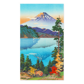 Tsuchiya Koitsu Lake Ashi in the Hakone Hills art Business Card