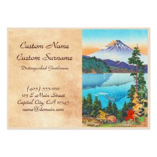 Tsuchiya Koitsu Lake Ashi in the Hakone Hills Business Card Template