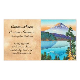 Tsuchiya Koitsu Lake Ashi in the Hakone Hills Business Card