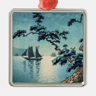 Tsuchiya Koitsu Maiko Sea Shore shin hanga Metal Ornament