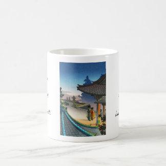 Tsuchiya Koitsu Miidera Temple Evening shin hanga Classic White Coffee Mug