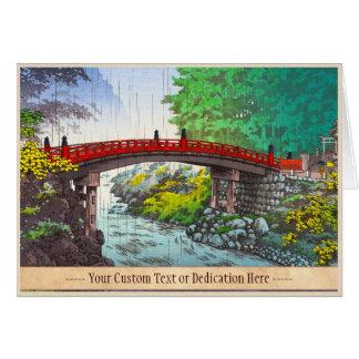 Tsuchiya Koitsu Nikko Sacred Bridge japanese scene Card