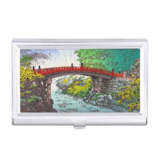 Tsuchiya Koitsu Nikko Sacred Bridge japanese scene Business Card Case