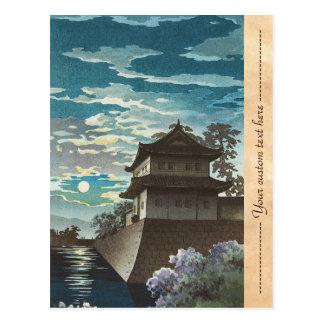 Tsuchiya Koitsu, paisaje de la noche del castillo Postales