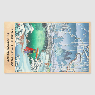 Tsuchiya Koitsu Sketches of Famous Places In Japan Rectangle Stickers