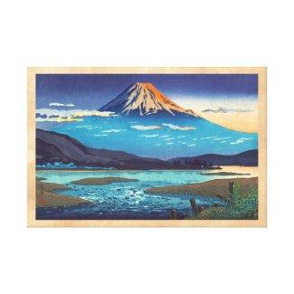 Tsuchiya Koitsu Tokaido Fujikawa landscape art Gallery Wrapped Canvas