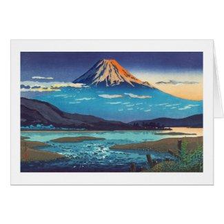 Tsuchiya Koitsu Tokaido Fujikawa landscape art Greeting Card