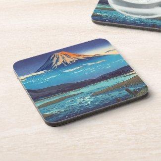 Tsuchiya Koitsu Tokaido Fujikawa landscape art Drink Coasters