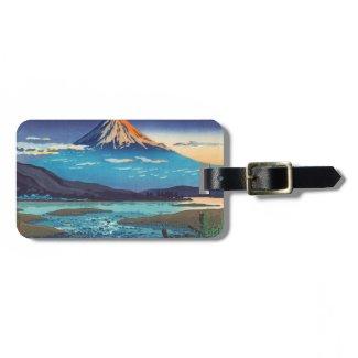 Tsuchiya Koitsu Tokaido Fujikawa landscape art Tags For Bags
