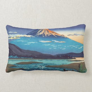 Tsuchiya Koitsu Tokaido Fujikawa landscape art Throw Pillows
