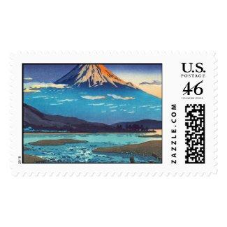 Tsuchiya Koitsu Tokaido Fujikawa landscape art Stamps