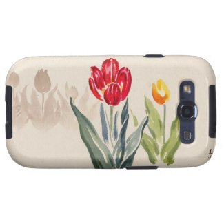 Tsuchiya Koitsu Tulips japanese vintage watercolor Samsung Galaxy SIII Cases