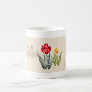 Tsuchiya Koitsu Tulips japanese vintage watercolor Coffee Mug