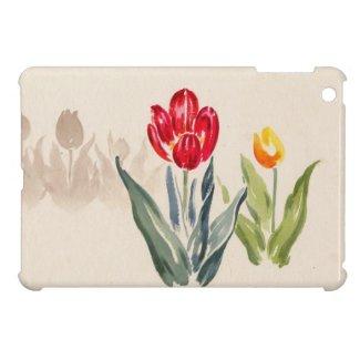 Tsuchiya Koitsu Tulips japanese vintage watercolor iPad Mini Case