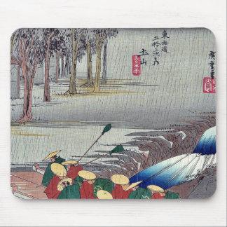 Tsuchiyama by Ando, Hiroshige Ukiyoe Mouse Pads