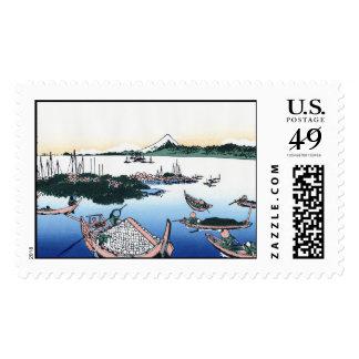 Tsukada Island in the Musashi province Hokusai Postage