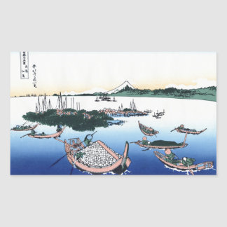 Tsukada Island in the Musashi province Hokusai Rectangular Sticker
