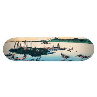 Tsukada Island in the Musashi province Skateboard Deck