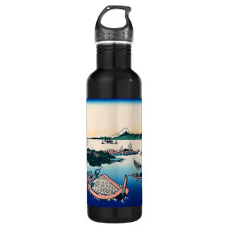 Tsukada Island in the Musashi province Stainless Steel Water Bottle