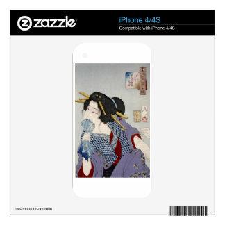 Tsukioka Yoshitoshi 月岡 芳年 - Looking in Pain Decal For iPhone 4
