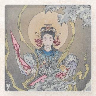Tsukioka Yoshitoshi's Goddess in the Sea Glass Coaster
