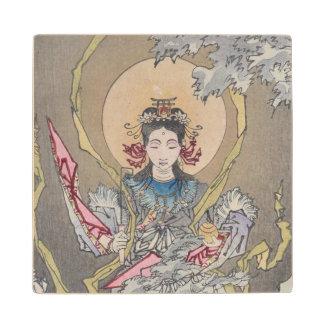 Tsukioka Yoshitoshi's Goddess in the Sea Wood Coaster