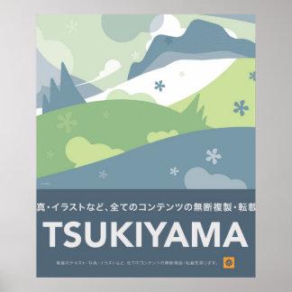 Tsukiyama Vintage Travel Poster Style Print