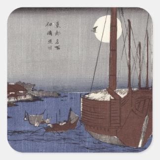Tsukudajima island and the Fukagawa district Sticker