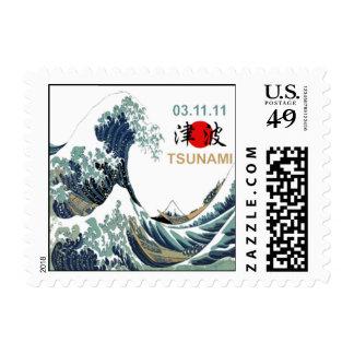 Tsunami 2011 de Japón Franqueo