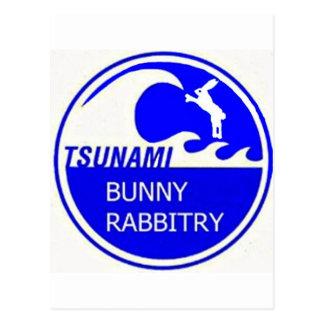 TSUNAMI BUNNY POSTCARD