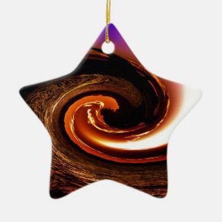 Tsunami Ceramic Ornament