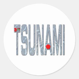 Tsunami Classic Round Sticker