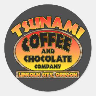 Tsunami Coffee & Chocolate Company Classic Round Sticker