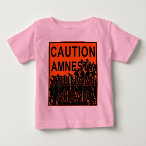 Tsunami de la amnistía de la precaución a playera de bebé