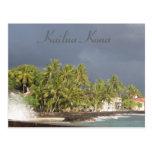 Tsunami del malecón de Kona antes de 2011 Postales