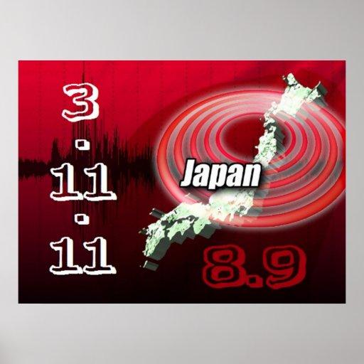 Tsunami del terremoto de Japón Póster