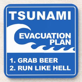 Tsunami Evacuation Plan Beverage Coaster