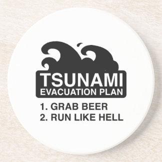Tsunami Evacuation Plan Drink Coaster