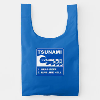 Tsunami Evacuation Plan Reusable Bag