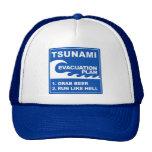 Tsunami Evacuation Plan Trucker Hat