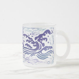 Tsunami Frosted Glass Coffee Mug