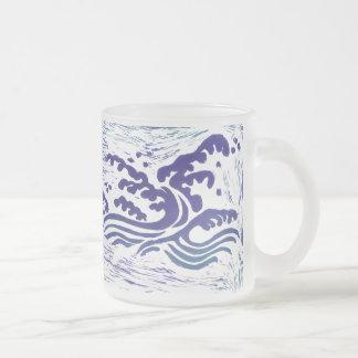 Tsunami Frosted Glass Coffee Mug