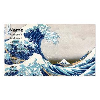Tsunami Great Wave Business Card Template