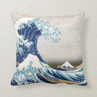 Tsunami Great Wave Throw Pillow